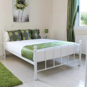 Warwick Bed - Single - Double - King - Superking - Bedroom - Metal - Furniture - Sleep - Comfort - White - Black - Chocolate - Silver - Steptoes - Paphos - Cyprus 2