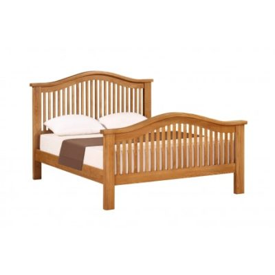 Lincoln Natural 5'0 Curved King Size Bed - Wood - Oak - Pine - Mango Wood - Painted - Natural Wood - Solid Wood - Lounge - Bedroom - Dining - Occasional - Furniture - Home - Living - Comfort - Interior Design - Modern