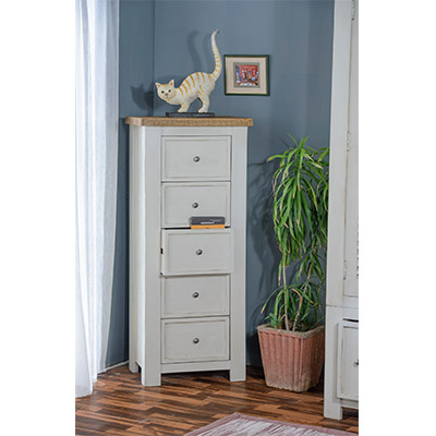 Kaveri 5 Drawer Chest - Wood - Oak - Pine - Mango Wood - Painted - Natural Wood - Solid Wood - Lounge - Bedroom - Dining - Occasional - Furniture - Home - Living - Comfort - Interior Design - Modern