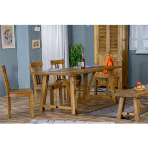 Modassa Trestle Table Large - Wood - Oak - Pine - Mango Wood - Painted - Natural Wood - Solid Wood - Lounge - Bedroom - Dining - Occasional - Furniture - Home - Living - Comfort - Interior Design - Modern