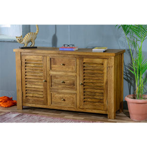 Modassa 2 Door 3 Drawer Sideboard - Wood - Oak - Pine - Mango Wood - Painted - Natural Wood - Solid Wood - Lounge - Bedroom - Dining - Occasional - Furniture - Home - Living - Comfort - Interior Design - Modern