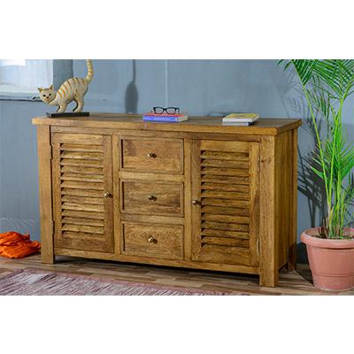 Modassa 2 Door 3 Drawer Sideboard - Wood - Oak - Pine - Mango Wood - Painted - Natural Wood - Solid Wood - Lounge - Bedroom - Dining - Occasional - Furniture - Home - Living - Comfort - Interior Design - Modern