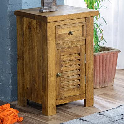 Modassa Bedside Cabinet - Wood - Oak - Pine - Mango Wood - Painted - Natural Wood - Solid Wood - Lounge - Bedroom - Dining - Occasional - Furniture - Home - Living - Comfort - Interior Design - Modern