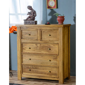 Modassa 2 Over 3 Chest - Wood - Oak - Pine - Mango Wood - Painted - Natural Wood - Solid Wood - Lounge - Bedroom - Dining - Occasional - Furniture - Home - Living - Comfort - Interior Design - Modern