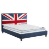 Union Jack Fabric Bed - Fabric - Bed - King Size - Double Size - Superking - Single - Relax - Comfort - Furniture - Steptoes - Paphos - Cyprus