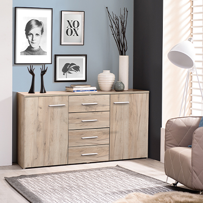 ADDA 3K4F SH 1 - Cabinet – Chest – Sideboard – Doors – Drawers – Bedroom – Dining – Storage – Unit – Interior – Steptoes – Furniture – Paphos