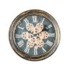 Antique Black and GoldBronze Moving Gears Wall Clock