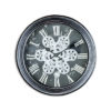 Antique Black and SilverGrey Moving Gears Wall Clock