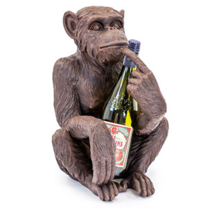 Antiqued Sitting Monkey Bottle Holder Assorted Colours