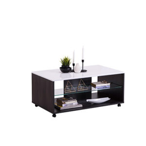 BERT CD BLF 1 - Coffee Table - Club Table - Lounge - Living - Stand - Shelves - Glass - Steptoes - Furniture