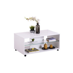 BERT OB BLF 1 - Coffee Table - Club Table - Lounge - Living - Stand - Shelves - Glass - Steptoes - Furniture
