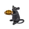 Black Mouse Candle Holder