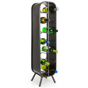 Camden Metal Industrial Large 14 Bottle Wine Rack