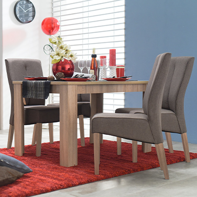 DT 120X80 SO 1- DINING TABLE - DINING - DINNER - TABLE - MDF - FURNITURE - STEPTOES - PAPHOS - CYPRUS