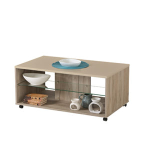 EMPOLI SH PLF 1 - Coffee Table - Club Table - Lounge - Living - Stand - Shelves - Glass - Steptoes - Furniture