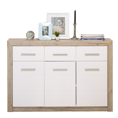 ETNA 3K3F SH BLF 1 - Cabinet – Chest – Sideboard – Doors – Drawers – Bedroom – Dining – Storage – Unit – Interior – Steptoes – Furniture