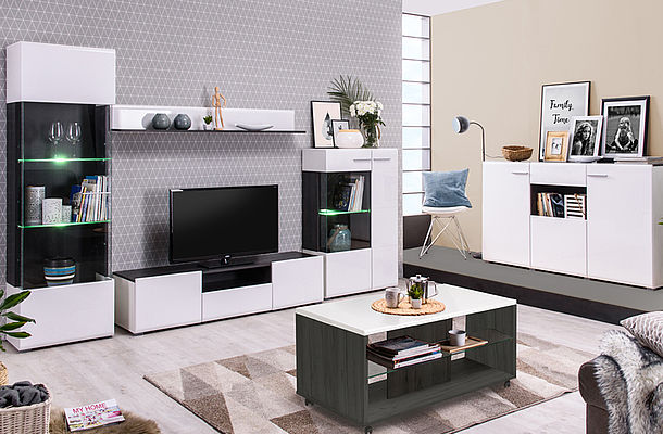 Modern Furniture - Bedroom - Lounge - Living Room - Dining - Dining Room - MDF - Flatpack - Ideal - Paphos - Cyprus - Steptoes Furniture