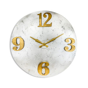 Extra Large Industrial Steel Clock with Gold Numerals
