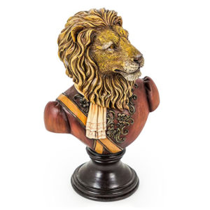 Medium Lion Bust on Round Base Assorted Models