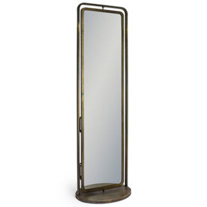 Industrial Revolving Freestanding Storage Mirror