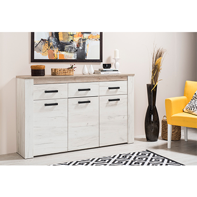 KENT 160 3K3F BH SH 1 - Cabinet – Chest – Sideboard – Doors – Drawers – Bedroom – Dining – Storage – Unit – Interior – Steptoes – Furniture