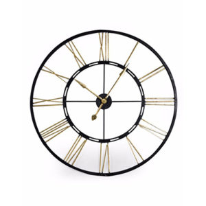 Large Iron Skeleton Clock Assorted Colours