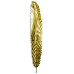Large Gold Leaf Wall Hanging Feather