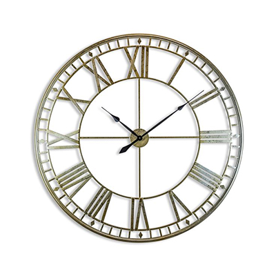 Large Square Skeleton Clock Assorted Colours