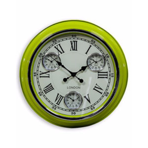 Retro London Multi Dial Wall Clock Assorted Colours