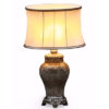 Small Mosaic Lamp With Oval Shade