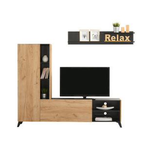 VITERBO ZH C 1 - ENTERTAINMENT CENTER - TV UNIT - TV SHELF - DISPLAY UNIT - LIVING - LOUNGE - STORAGE - STEPTOES FURNITURE