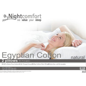 egyptian cotton 2 pillow - cotton - pillow - pillows - bedding - comfort - sleep - steptoes - home - accessories