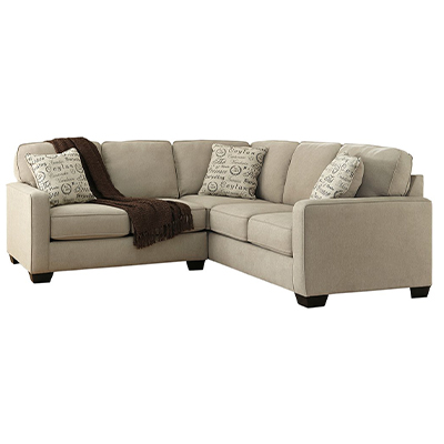 Alenya 2 Piece Light Grey Corner Sofa