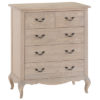 2 over 3 chest - drawers - French-classic design-black decorative handles-oak-white wash finish-furniture-wood-steptoes-paphos-cyprus