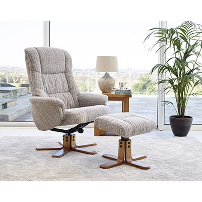 Reclining Chair - Recliner - Chair - Armchair - Reclining armchair - Swivel - Footstool - Lounge - Living - Comfort - Fabric - PU - Leather - Sofa - Steptoes - Paphos - Cyprus