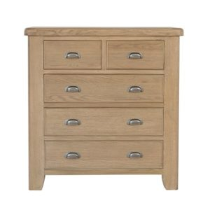 Perth Oak 2 Over 3 Bedroom Chest - Smoked Oak - Bedroom Chest - Storage - Unit - Interior - Oak - Solid Wood Furniture - Bedroom Furniture - Bedroom - Furniture - Steptoes - Paphos - Cyprus