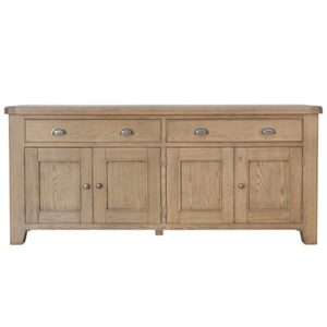 Perth Oak Extra Large Sideboard - Oak - Perth - Smoked Oak - Sideboard - Storage - Interior - Wine Rack - Dining - Furniture - Paphos - Cyprus - Steptoes