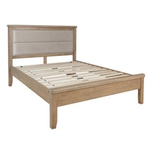 Perth Oak King Bed - King Size Bed - King Bed - King Size - Oak - Smoked Oak - Oak Furniture - Bedroom - Comfort - Furniture - Interior - Paphos - Cyprus - Steptoes