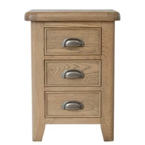 Perth Oak Bedside Cabinet - Smoked Oak - Bedside Cabinet - Oak - Nightstand - Solid Wood Furniture - Bedroom - Interior - Storage - Furniture - Steptoes - Paphos - Cyprus