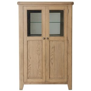 Perth Oak Drinks Cabinet - Display Cabinet - Oak - Smoked Oak - Perth - Solid Wood Furniture - Dining - Wine Rack - Storage - Interior - Furniture - Steptoes - Paphos - Cyprus
