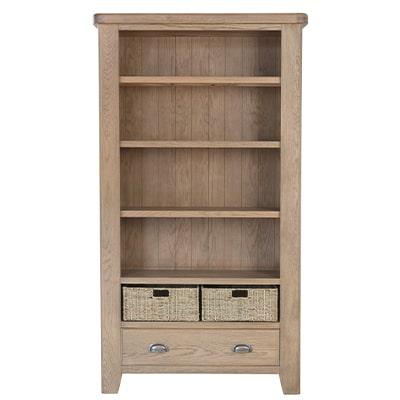 Perth Oak Large Bookcase - Perth - Oak - Smoked Oak - Large Bookcase - Bookcase - Storage - Interior - Solid Wood Furniture - Living - Dining - Furniture - Paphos - Cyprus - Steptoes