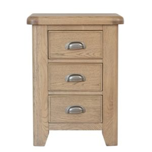 Perth Oak Large Bedside Cabinet - Smoked Oak - Bedside Cabinet - Oak - Nightstand - Solid Wood Furniture - Bedroom - Interior - Storage - Furniture - Steptoes - Paphos - Cyprus