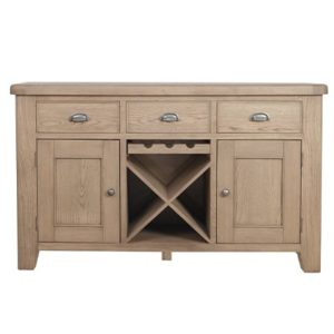 Perth Oak Large Sideboard - Oak - Perth - Smoked Oak - Sideboard - Storage - Interior - Wine Rack - Dining - Furniture - Paphos - Cyprus - Steptoes