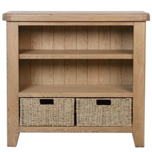 Perth Oak Small Bookcase - Perth - Oak - Smoked Oak - Small Bookcase - Bookcase - Storage - Interior - Solid Wood Furniture - Living - Dining - Furniture - Paphos - Cyprus - Steptoes