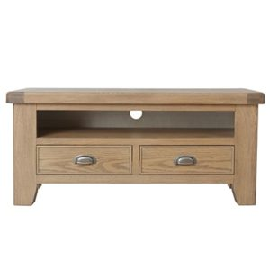 Perth Oak Standard TV Unit - Smoked Oak - Oak - Solid Wood Furniture - TV Unit - Storage - Interior - Lounge - Living - Furniture - Steptoes - Paphos - Cyprus
