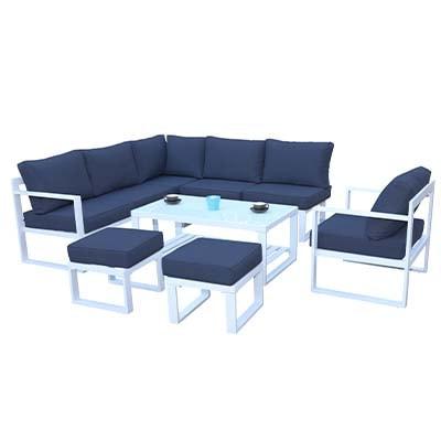 Model Garden Corner Aluminium Set - Aluminium - Garden Set - Corner Set - Garden - Outdoor - Exterior - Summer - Patio - Balcony - Furniture - Paphos - Cyprus - Steptoes