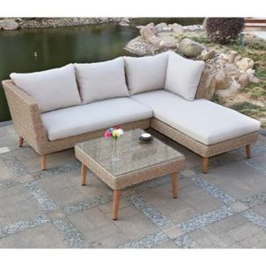 Model Small Corner Garden Set - Garden - Sofa Set - Aluminium - Rattan - Outdoors - UV - Comfort - Modern - Exterior - Paphos - Cyprus - Steptoes