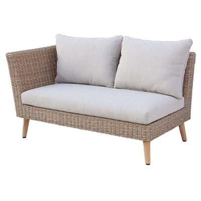 Model Small Corner Garden Set - Garden - Sofa Set - Aluminium - Rattan - Outdoors - UV - Comfort - Modern - Exterior - Paphos - Cyprus - Steptoes