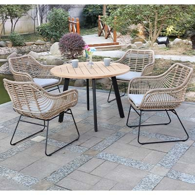 Rattan Natural Garden Dining Set - Rattan - Aluminium - Garden - Outdoors - Outdoor - Patio - Balcony - Exterior - Dining - Furniture - Steptoes - Paphos - Cyprus