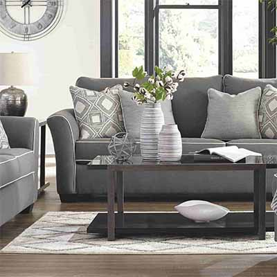 Domani - 3 Seater - 2 Seater - Armchair - Ottoman - Grey - Charcoal - Sofa - Suite - Couch - Living - Lounge - Fabric - Microfiber - Paphos - Furniture - Cyprus